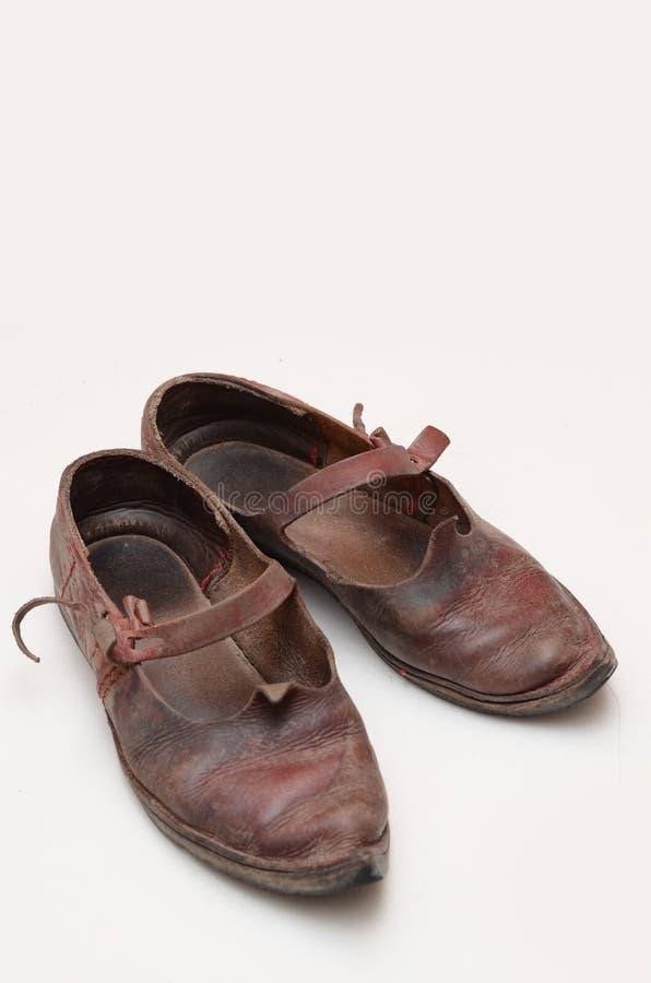 Historische Schuhe stockfotos