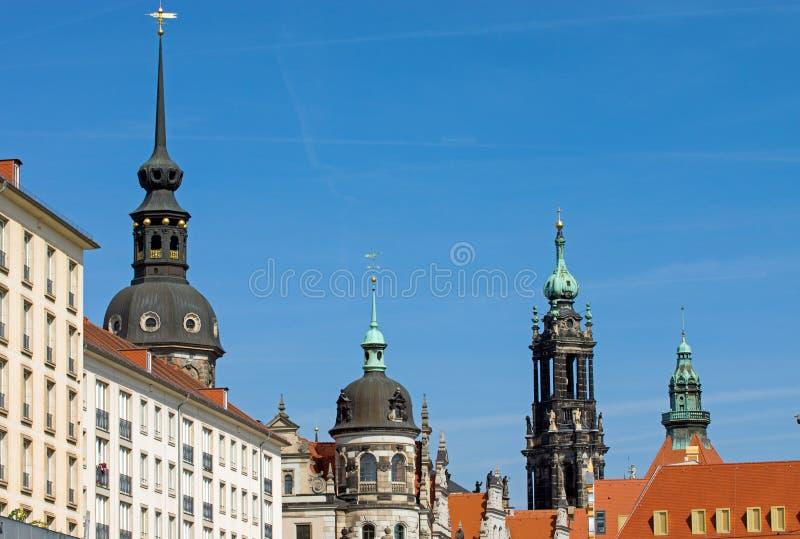 Historische Skyline von Dresden lizenzfreie stockfotografie