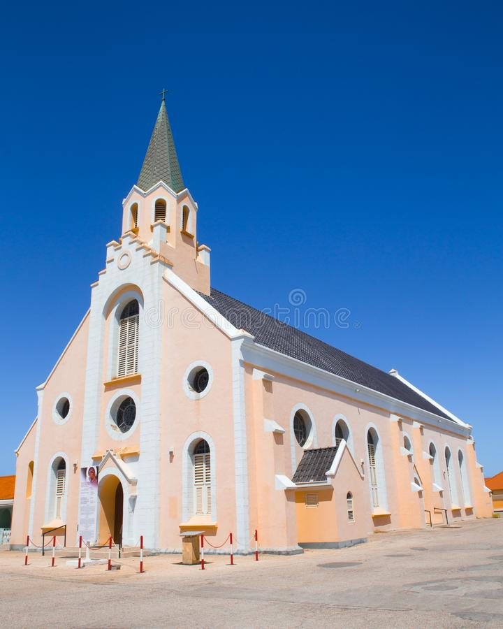Historische St Ann ` s Roman Catholic Church in Noord Aruba royalty-vrije stock fotografie