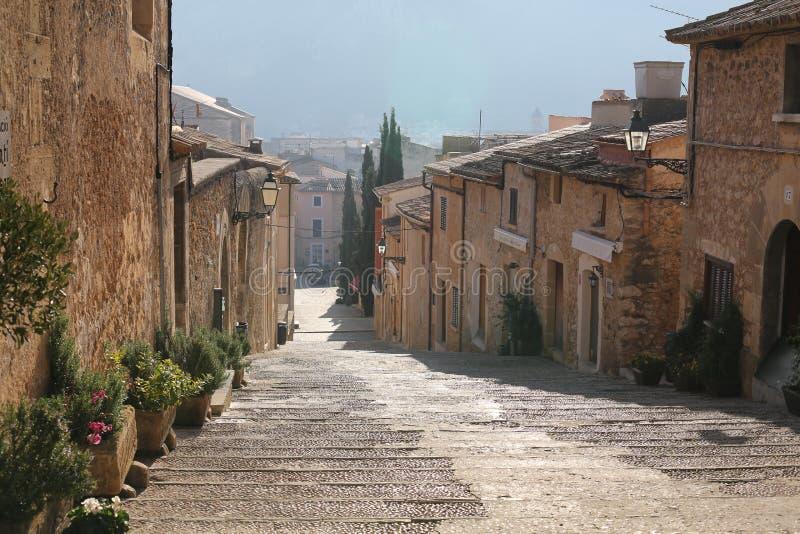 Historische stad Pollenca op Majorca-Eiland, Spanje royalty-vrije stock afbeelding