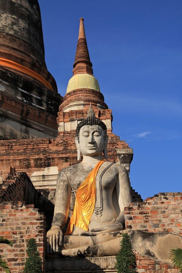 Historische Stad van Ayutthaya, Thailand royalty-vrije stock foto's