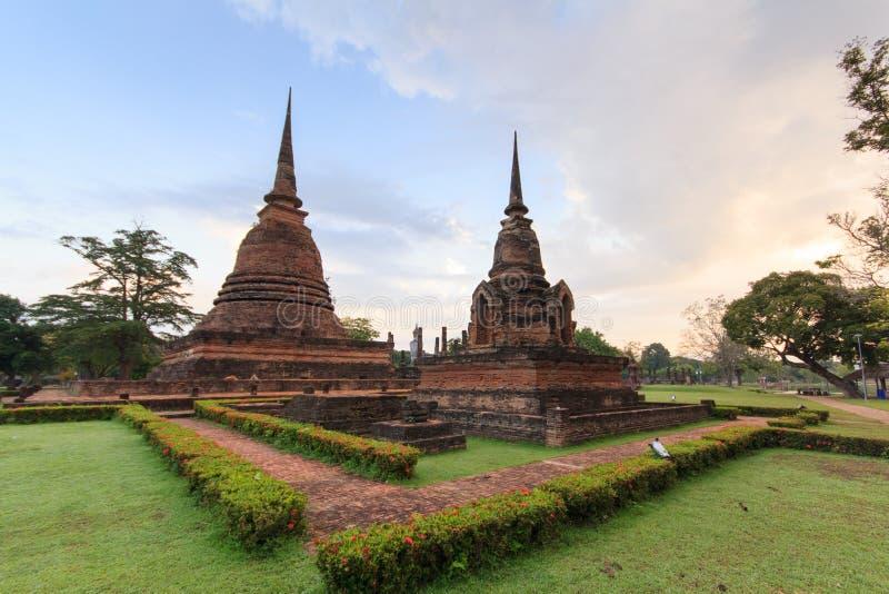 Historische Stad van Sukhothai stock afbeelding