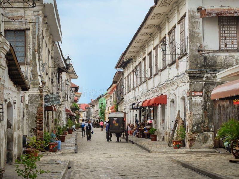 Historische Stadt von Vigan lizenzfreie stockbilder