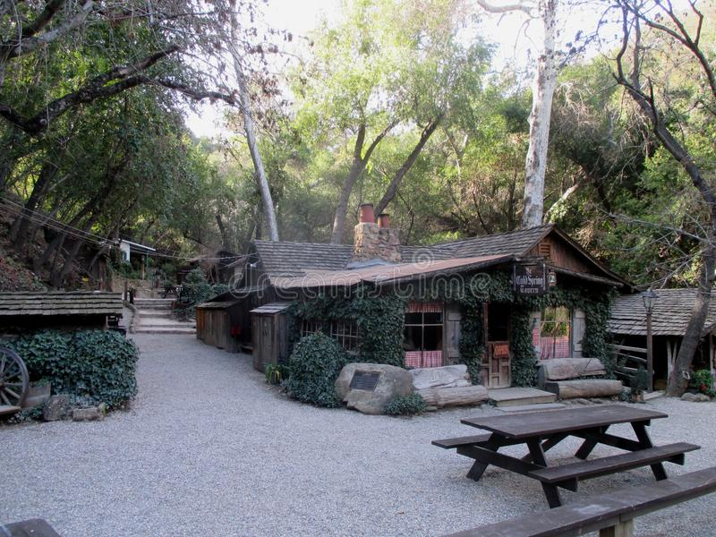 Historische Stagecoach Herberg dichtbij Goleta, Santa Barbara County, Californië stock afbeelding