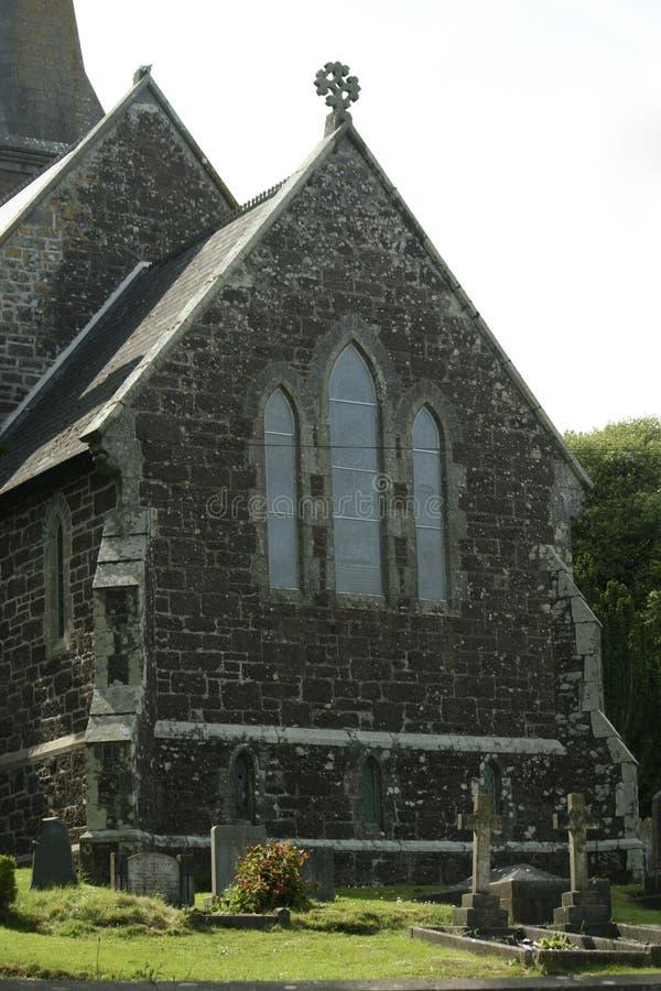 Historische Steenkerk in Ierland stock foto's
