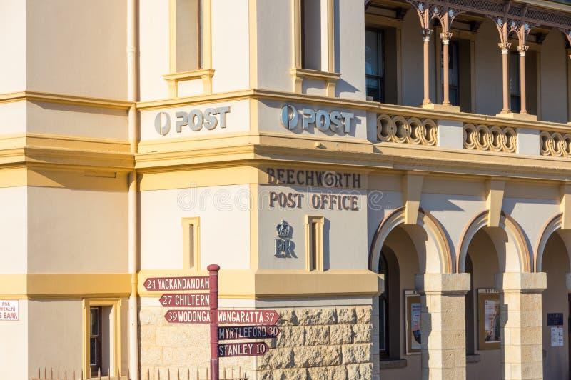 Historische Steinpost in Beechworth in Victoria, Australien lizenzfreie stockfotos