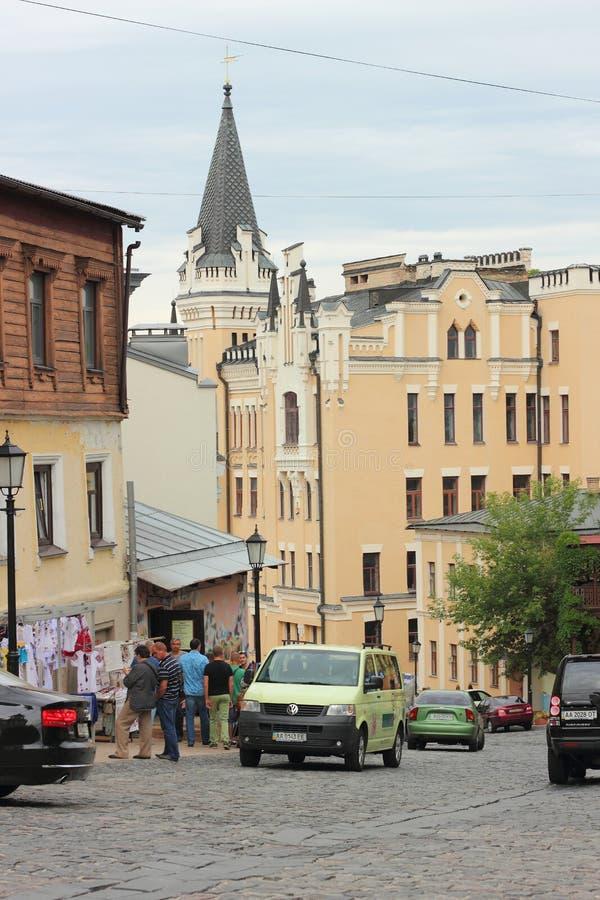 Historische Straße der Stadt lizenzfreies stockbild