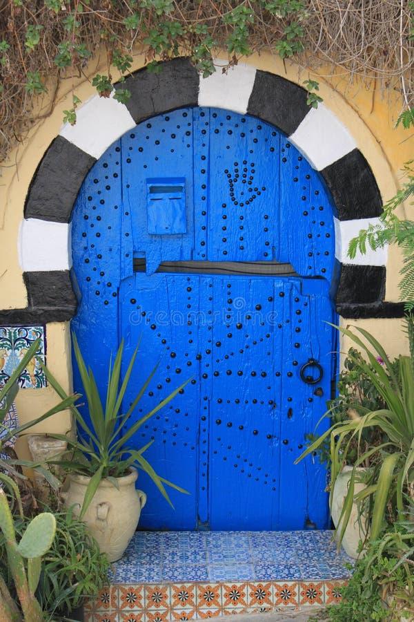 Historische Türen von Sidi Bou Said stockfoto