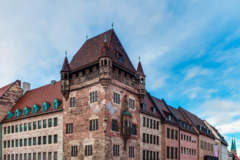 Historische Toren in de Stad van Nuremberg royalty-vrije stock fotografie