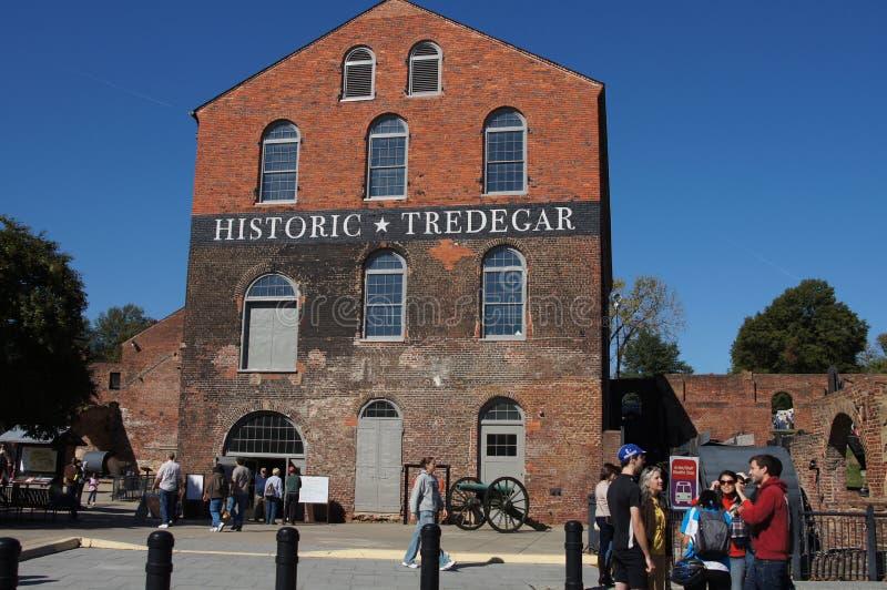 Historische Tredegar Eisen-Arbeiten, Richmond Virginia lizenzfreie stockbilder