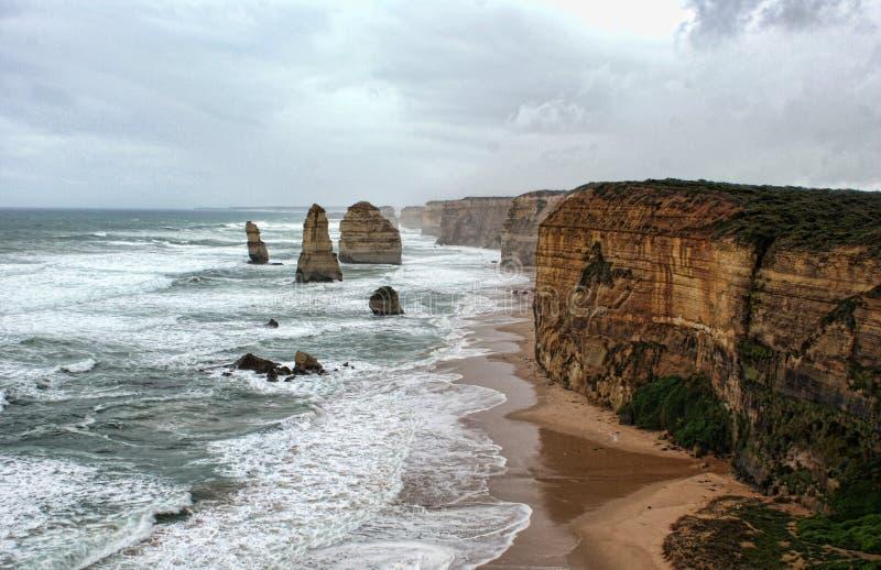 Historische Twaalf Apostelen Australië stock afbeeldingen