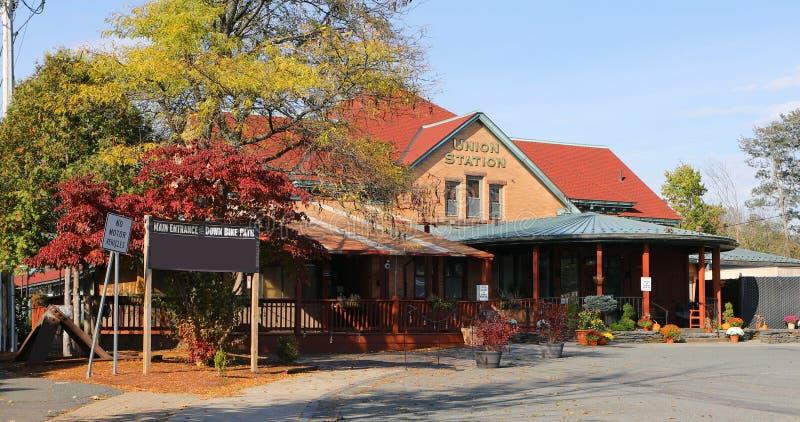 Historische Unie Post in Northampton in Massachusetts stock foto