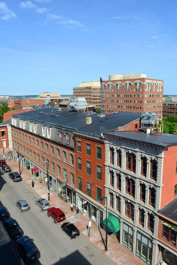 Historische Van de binnenstad van Portland, Maine, de V.S. royalty-vrije stock afbeelding
