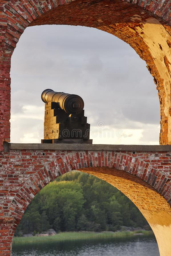 Historische versterkte plaats van Bomarsund, Aland-eilanden Finland h stock fotografie