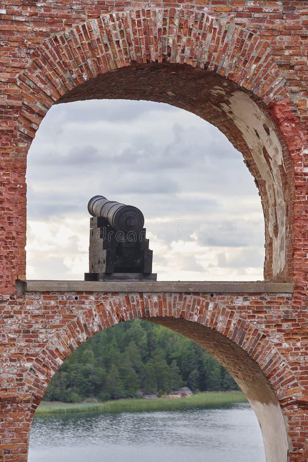 Historische versterkte plaats van Bomarsund, Aland-eilanden Finland h stock foto's