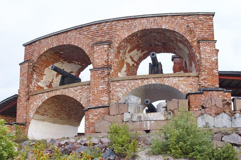 Historische versterkte plaats van Bomarsund, Aland-eilanden Finland h royalty-vrije stock afbeelding