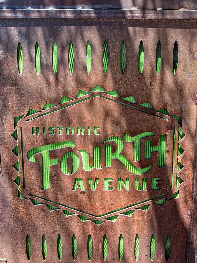 Historische vierte Allee, Tuscon, Arizona lizenzfreie stockfotografie