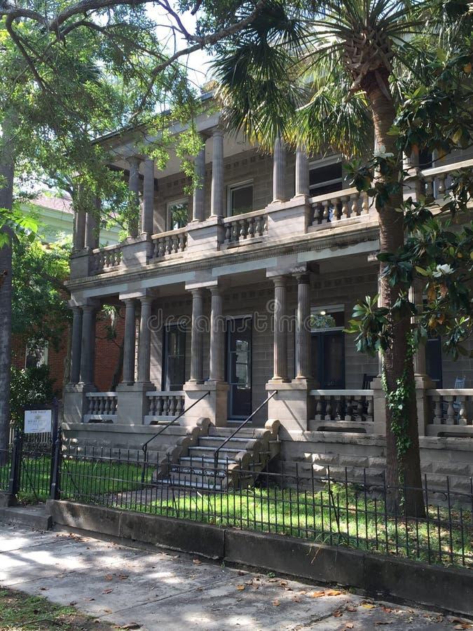 Historische Villa in South Carolina stockfoto