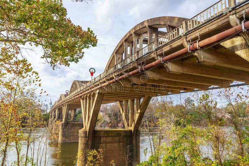 Historische Wetumpka-Brücke lizenzfreie stockfotos
