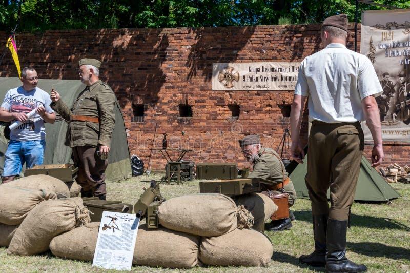 Historische Wiederinkraftsetzungsshow - Grenadier 2017 stockfotos
