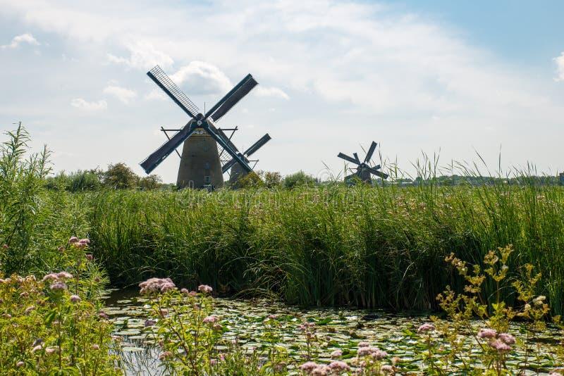 Historische windmolen royalty-vrije stock foto's
