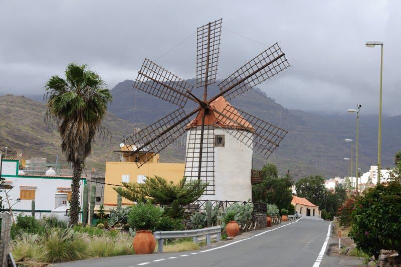 Historische Windmolen, Gran Canaria stock foto