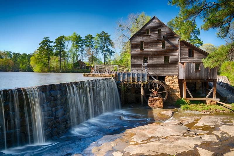 Historische Yates-Wasser-Mühle lizenzfreies stockbild