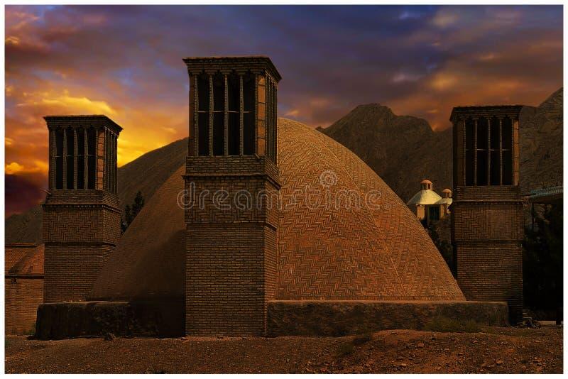 Historische Yazd bouwt royalty-vrije stock foto's