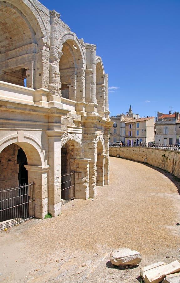 Am historischen Amphitheater in den arles lizenzfreies stockbild