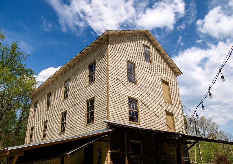 Historischen Jessups Mühle in Westfield, North Carolina stockbild