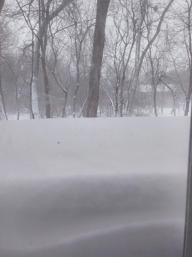 Historischer April-Blizzard lizenzfreie stockbilder