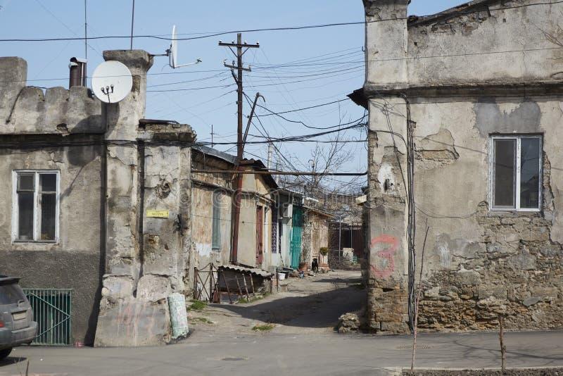 Historischer Bereich der alten Stadt stockbild