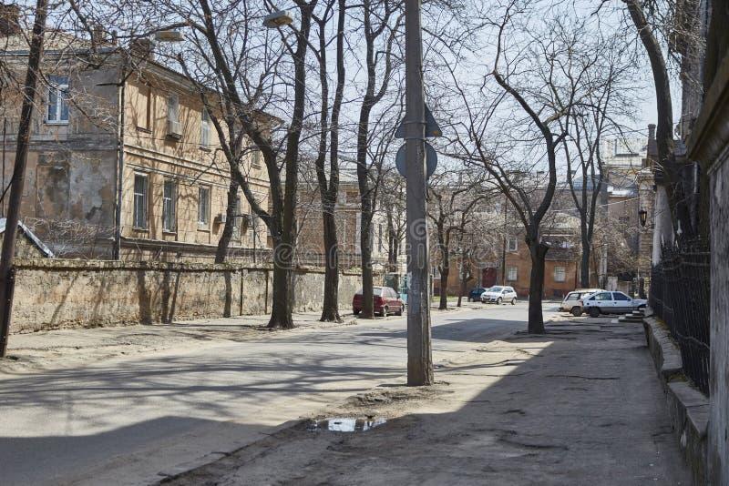 Historischer Bereich der alten Stadt Odessa, Ukraine lizenzfreie stockfotos