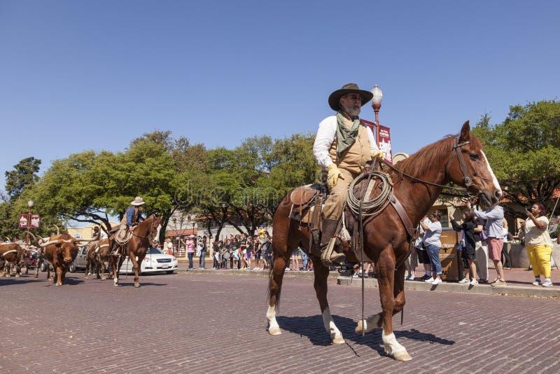 Historischer Bezirk Fort Worth-Viehhöfe lizenzfreies stockbild