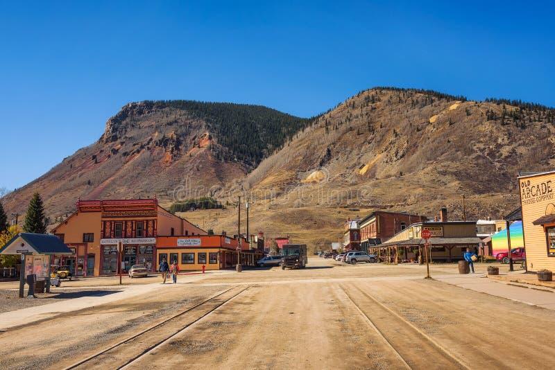 Historischer Bezirk Silverton in Colorado lizenzfreies stockfoto