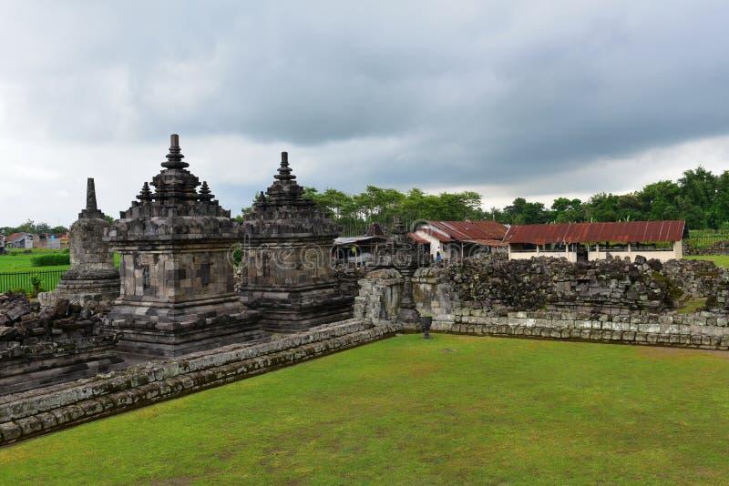Historischer buddhistischer Tempel Candi Plaosans lizenzfreies stockbild