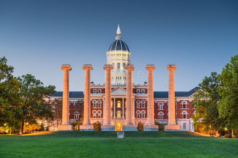 Historischer Campus Kolumbiens, Missouri, USA stockfotografie