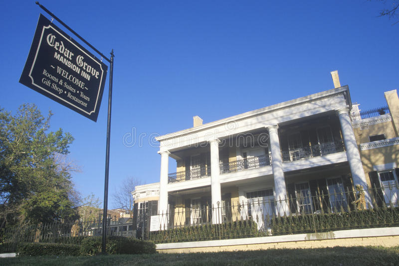 Historischer Cedar Grove Mansion in Vicksburg, Mitgliedstaat stockfotografie