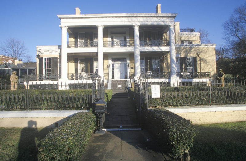 Historischer Cedar Grove Mansion in Vicksburg, Mitgliedstaat lizenzfreie stockbilder