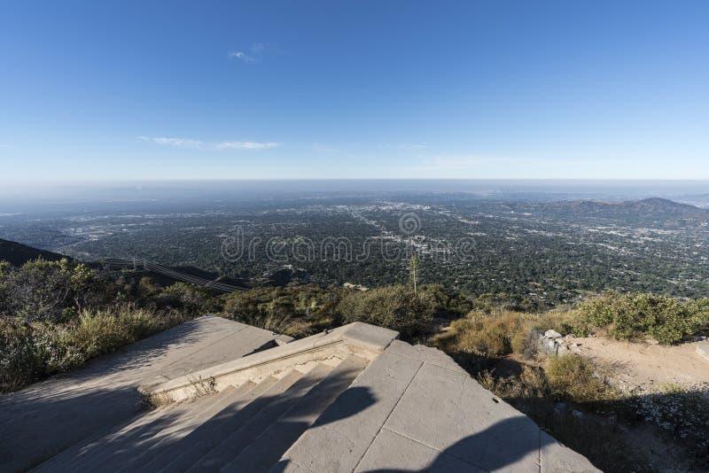 Historischer Echo Mountain Stairs Angeles National-Wald lizenzfreie stockfotografie