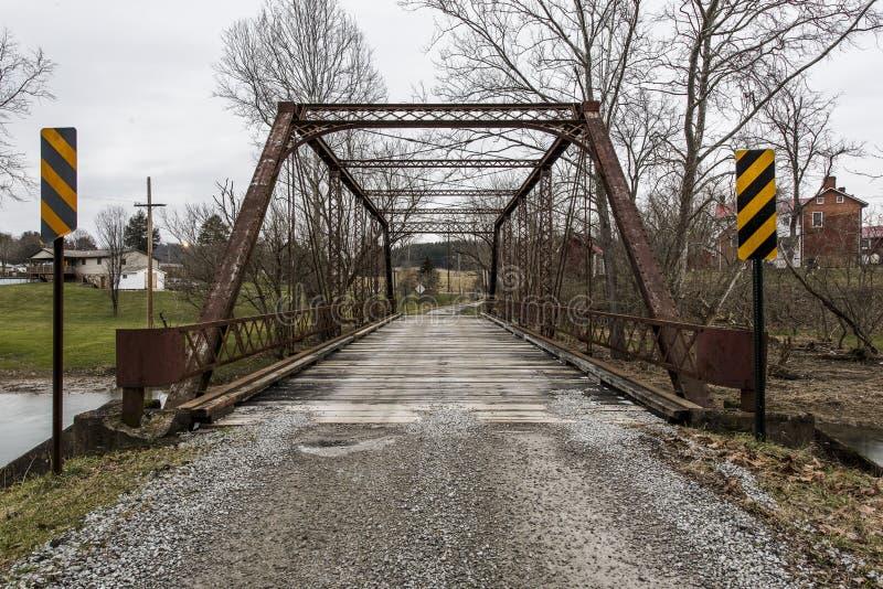 Historischer Evans Bridge - ländliches Pennsylvania stockfoto