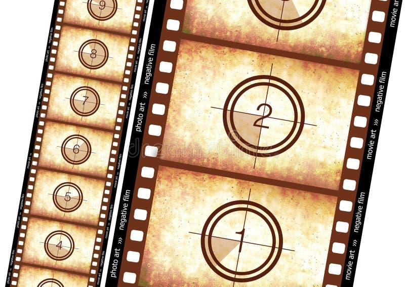 Historischer Filmstreifen lizenzfreie abbildung