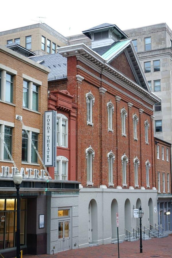 Historischer Furt-Theater-Markstein im Washington DC stockfotos