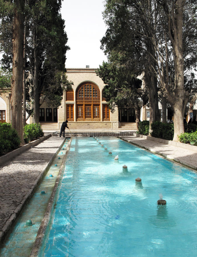 Historischer Garten stockbild
