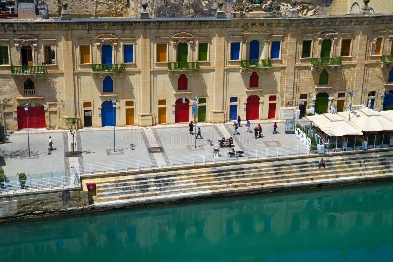Historischer Hafen Maltas, La-Valletta stockbilder