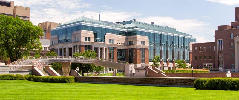 Historischer Hasselmo Hall auf dem Campus der Universität von Minnes stockfotografie
