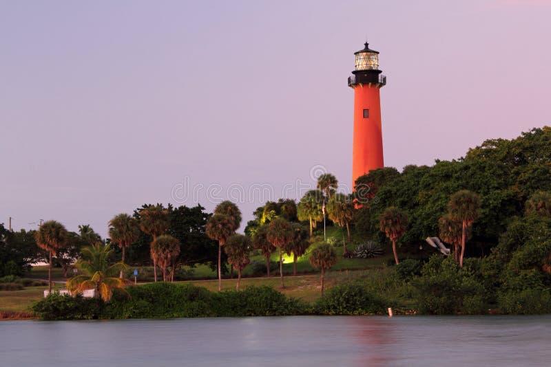 Historischer Jupiter Inlet Lighthouse stockbilder