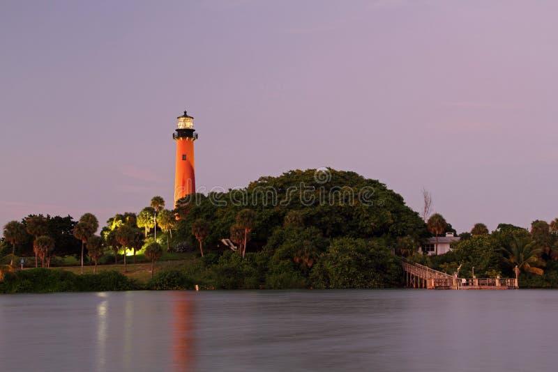 Historischer Jupiter Inlet Lighthouse lizenzfreie stockfotografie