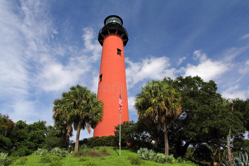 Historischer Jupiter Inlet Lighthouse lizenzfreies stockfoto