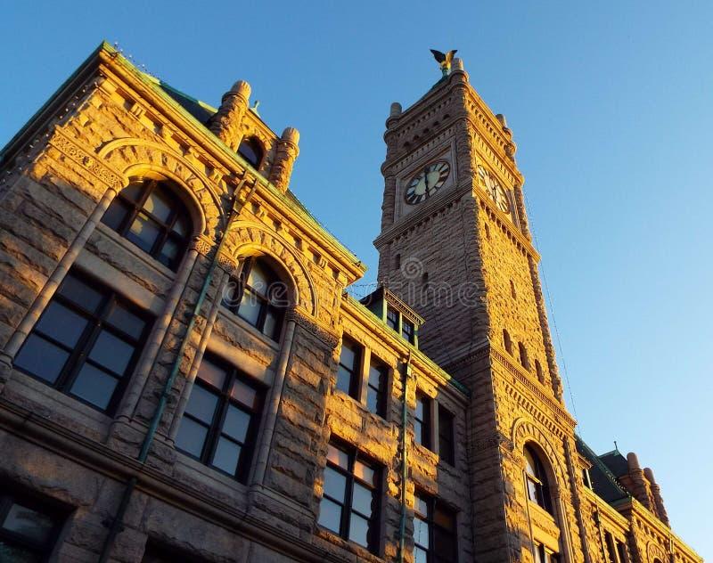 Historischer Lowell Massachusetts lizenzfreies stockbild